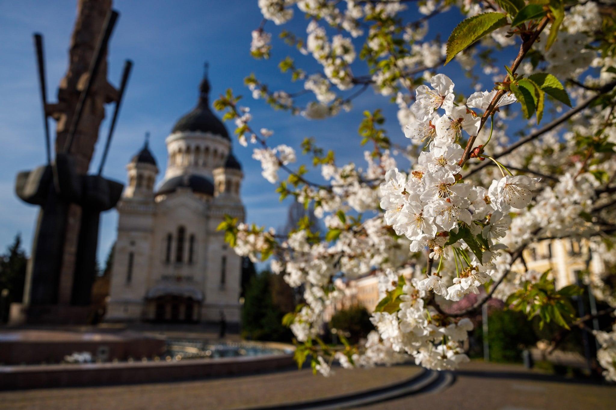 Cluj-Napoca im Frühling