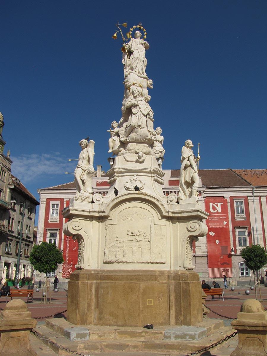 Das Denkmal von St. Mary und St. Nepomuk