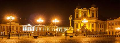 Die Stadt Timisoara bei Nacht