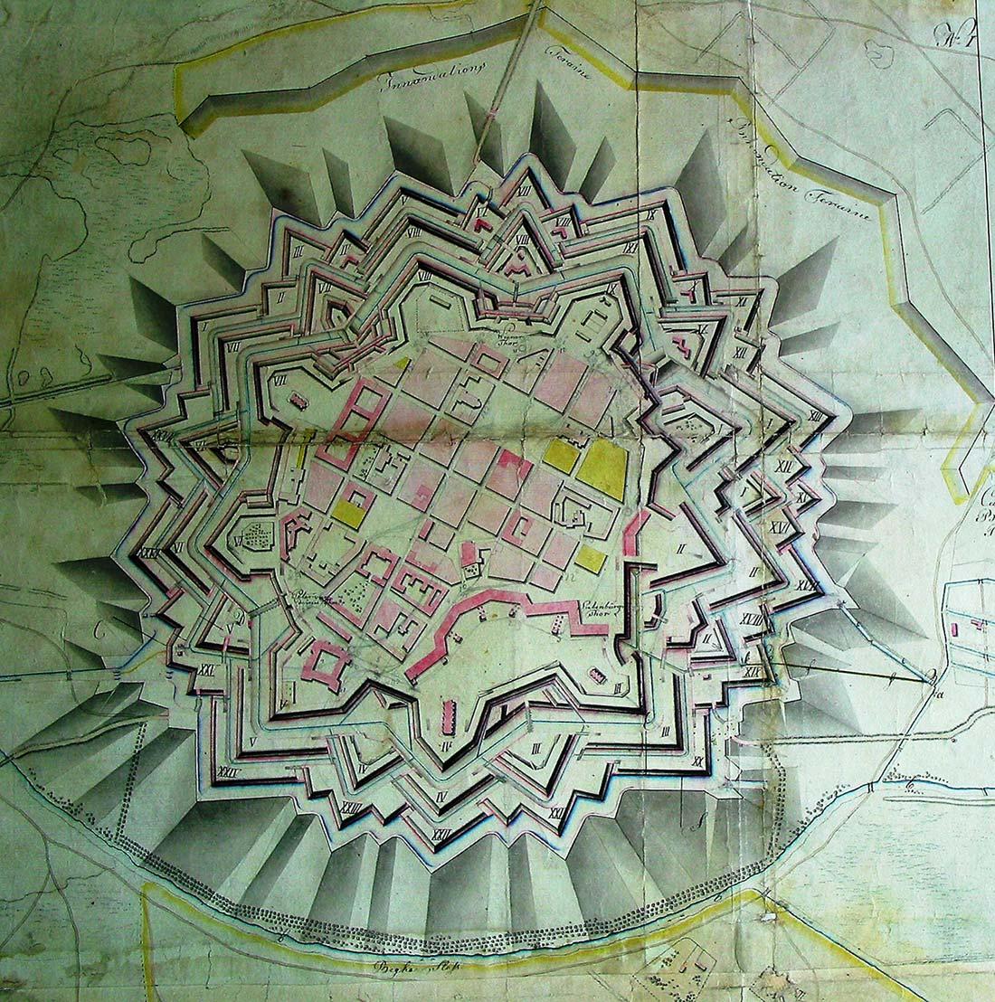 Festungsplan von Timisoara