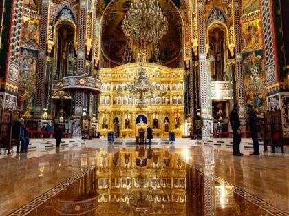 Der Bau der neuen orthodoxen Kathedrale 'Heilige Dreifaltigkeit'