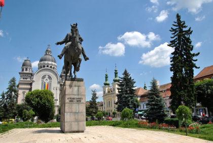 Die Statue von Avram Iancu